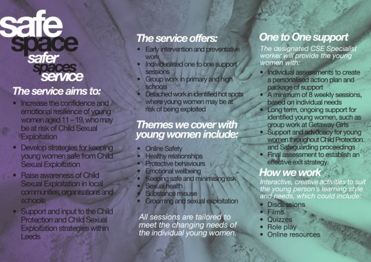 SafeSpace leaflet 2016 in AW
